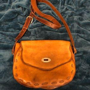Handmade LEATHER crossbody bag